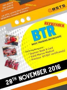 We have an upcoming session for Basic Training (Refresher) on Monday, 28th November 2016! Book now to secure your seat!